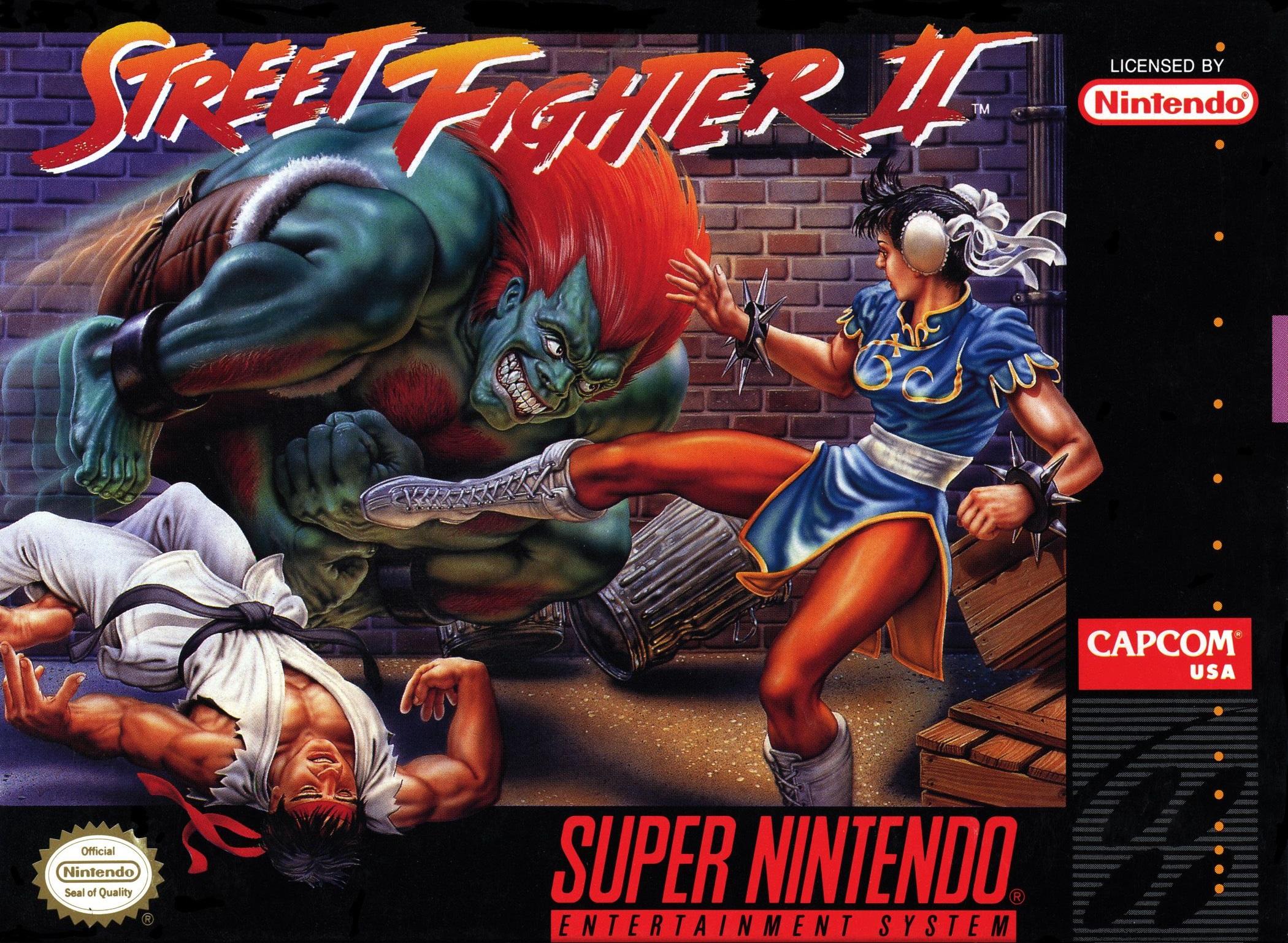 street fighter 2 snes cart